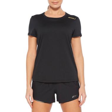 T-Shirt 2XU GHST Femme Manches Courtes Noir/Or 2021
